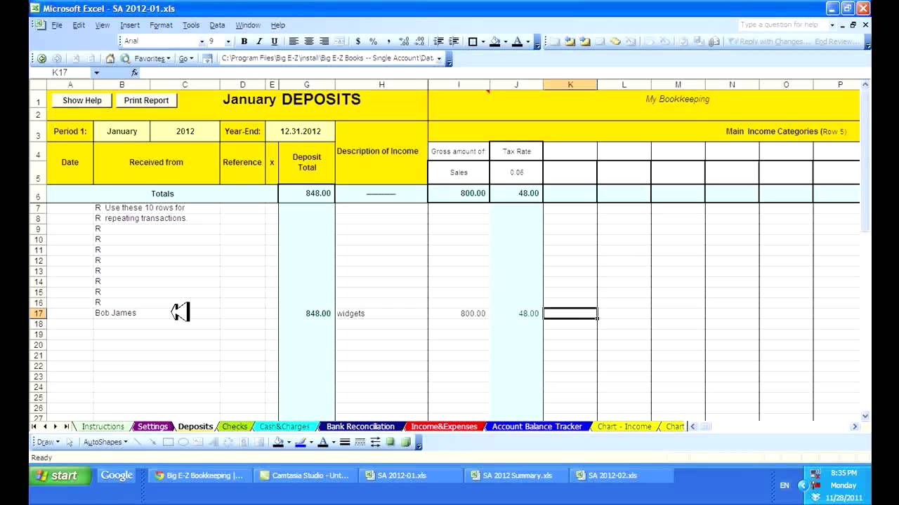 Bank Reconciliation Excel Template