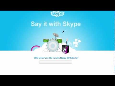 Say happy birthday with Skype