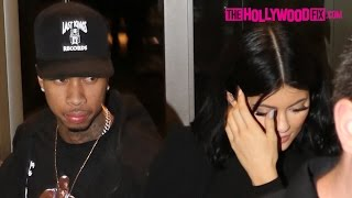 Kylie Jenner & Tyga Attend Kim Kardashian's 35th Birthday Party 10.21.15 - TheHollywoodFix.com