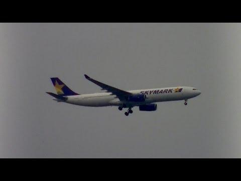 SkyMark Airlines A330 JA330E landing @Haneda Airport rwy34L(羽田空港/スカイマーク)