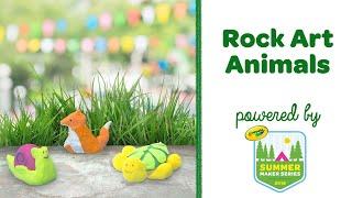 DIY Rock Art Animals || Summer Maker Series || Crayola CIY
