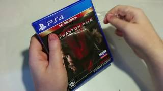 Metal Gear Solid 5: The Phantom Pain Day One Edition Распаковка для Playstation 4