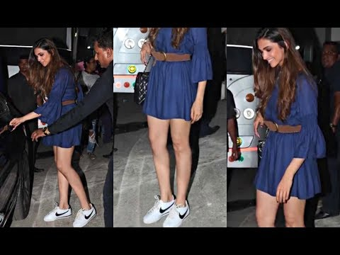 Deepika Padukone Hot In Summer Blue Dress