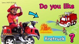Do You Like Firetruck?? Learn Simple English Songs!!