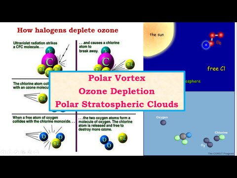C22-Polar Vortex-Ozone Hole-Ozone Depletion-Polar Stratospheric Clouds - Geography, Environment