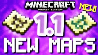 MCPE 1.1 - NEW MAPS & MORE! (Minecraft Pocket Edition 1.1)