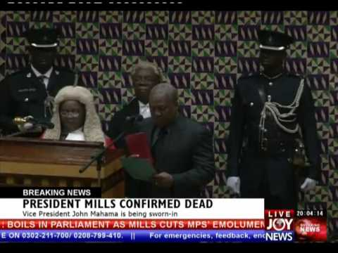 John Dramani Mahama sworn in as 4th President of 4th Republic of Ghana (24-7-12)