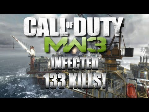 133 Kill Infected Game on Offshore Mw3 Map Pack #7