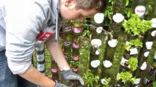 Bottle tower training for allotment gardeners