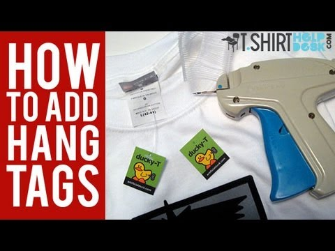 how to add hang tags to your t shirts youtube
