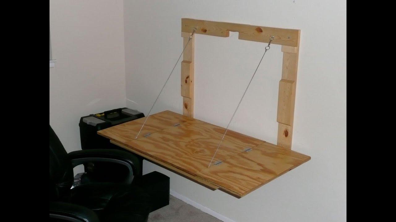 C mo hacer un escritorio de madera colapsable youtube for Como construir un kiosco en madera