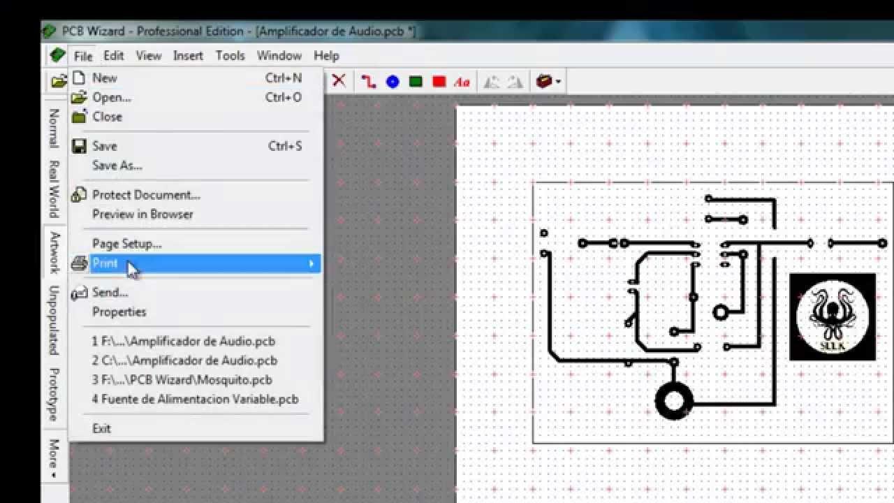 Imprimir Circuitos De Pcb Wizard En Modo Espejo Youtube