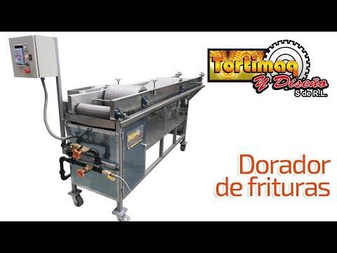 Equipo para dorar frituras - Dorador de frituras - Máquina para frituras | tortimaq.com.mx