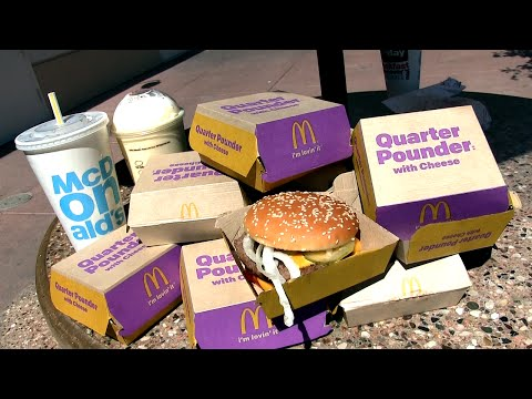 10 Quarter Pounders  & a Shake (McDonald's Challenge)