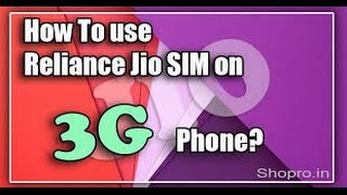How to use 4g jio sim in 3g mobile(Tamil and English)