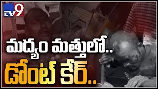 Drunk and Drive: Drunken auto driver hulchul in Peddapalli district