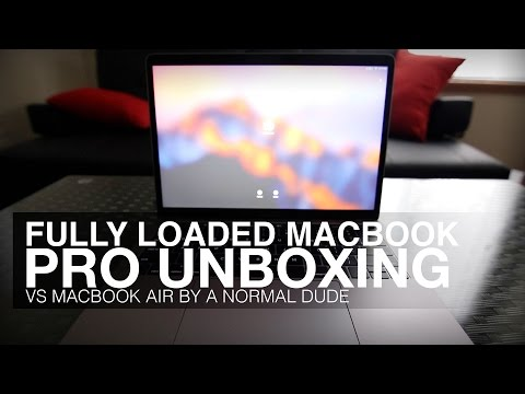 """UNBOXING FULLY LOADED 2017 MACBOOK PRO """"AIR"""" ?? By a normal dude."""
