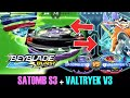 QR CODES SATOMB S3 VS VALTRYEK V3 RECOLOR UNLOCKED BEYBLADE BURST + APP GAMEPLAY
