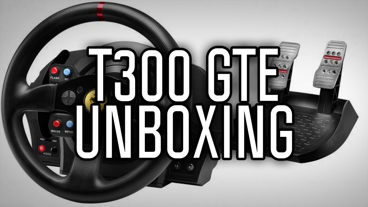 thrustmaster t300 ferrari gte unboxing ps4 ps3 pc youtube. Black Bedroom Furniture Sets. Home Design Ideas