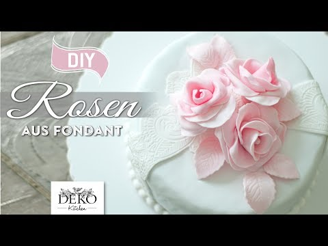 DIY: Rosen aus Fondant für zauberhafte Tortenverzierungen [How to] Deko Kitchen