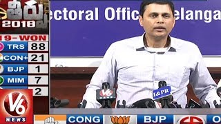 EC Rajath Kumar Addresses Media Over Telangana Assembly Poll Results 2018