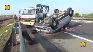 Ô tô va chạm xe khách trên cao tốc TPHCM Trung Lương, nhiều người may mắn thoát nạn