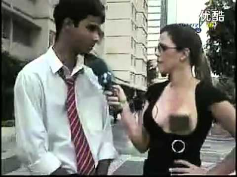 Sexy Reporter Breast Exposed Teaser video