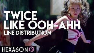 download lagu Twice - Like Ooh-ahh Line Distribution Color Coded gratis