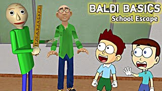 Baldi Basics Math Teacher - School Escape | Shiva and Kanzo Gameplay
