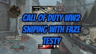 Call of Duty World War 2 sniping with Faze Testy!!