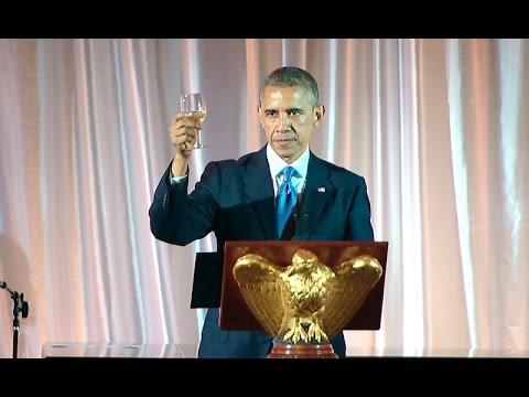 President Obama Speaks at the U.S.-Africa Leaders Summit Dinner