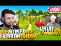 Stream Sniping Fashion Shows with 100 PEELY SKINS! (Fortnite Battle Royale)