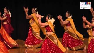 Ladies dance performance on a medley of south Indian song by  Sampada's Dance Studio students