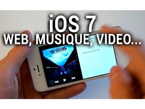 iOS 7 (beta 2) : calendrier, musique, vidéo, appareil photo, web... - par Test-Mobile.fr
