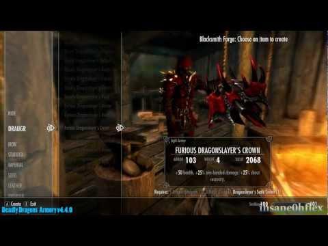 Skyrim Mod Showcase: #4 - Deadly Dragons Spells & Armory