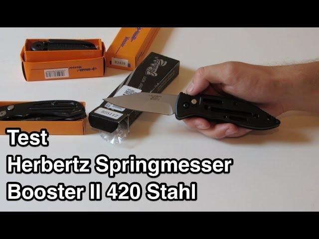 Test Herbertz Springmesser Booster II 420 Stahl nanokultur.de