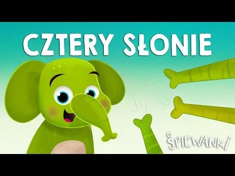 CZTERY SŁONIE, ZIELONE SŁONIE – Śpiewanki.tv - Piosenki Dla Dzieci