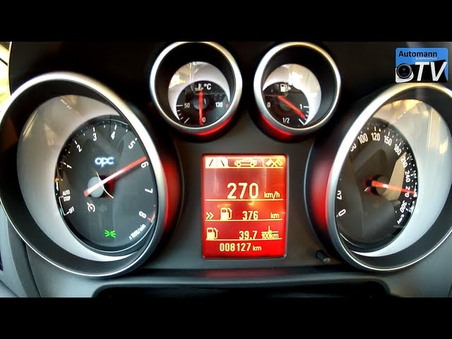 2014 Opel Astra OPC/VXR (280hp) - 0-270 km/h acceleration ...