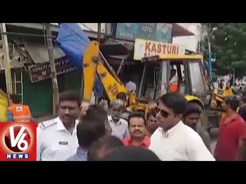 Encroachments Demolition Continues In 2nd Day In Hyderabad City | V6 News