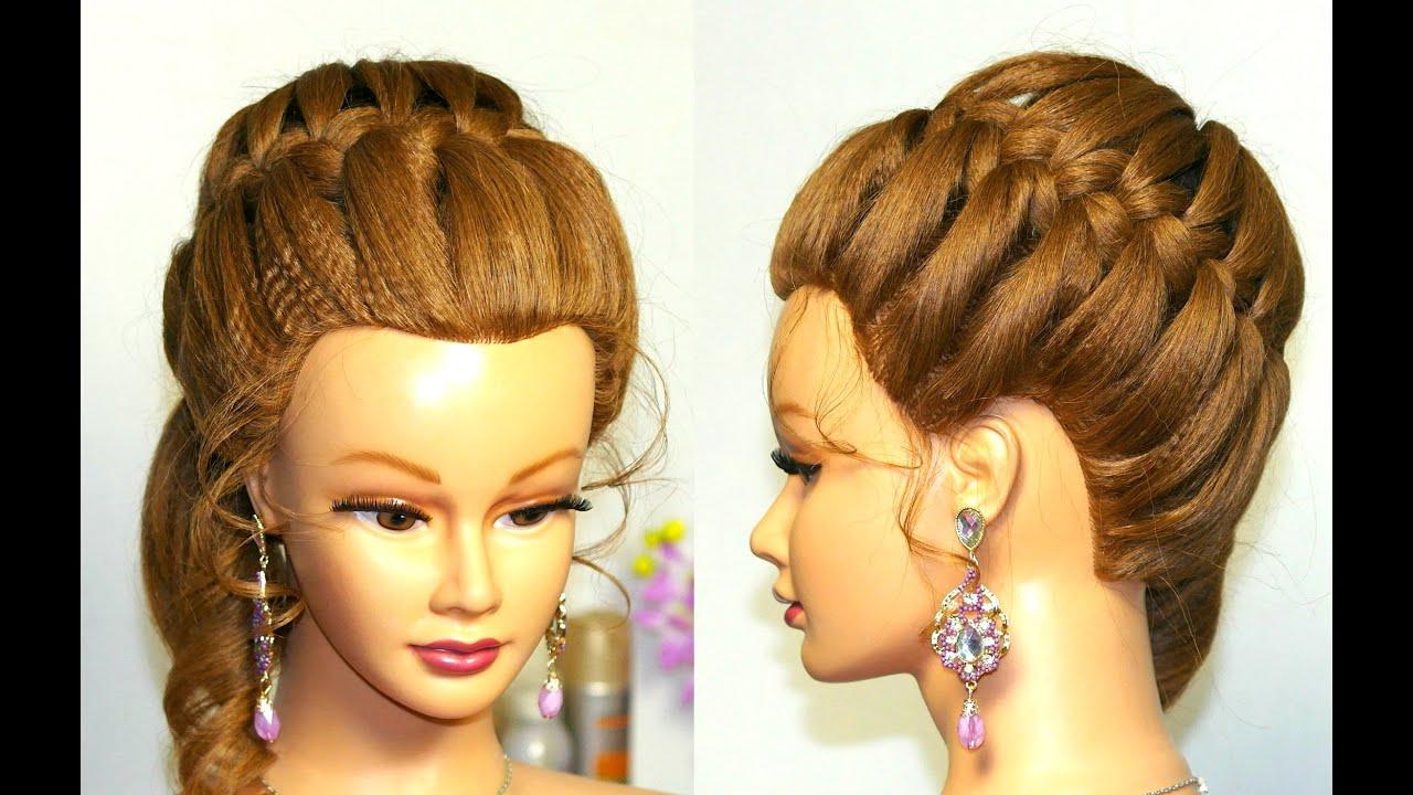 Причёски на выпускной простые косы