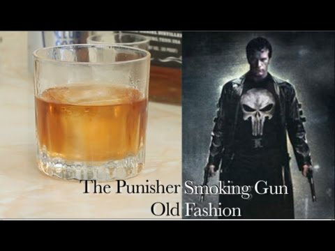 How To Make Marvel's The Punisher Smoking Gun Old Fashion| Drinks Made Easy