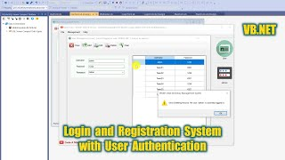 VB.NET 2020 and Access (Part 5) - How to Create Login and Register System with User Authentication