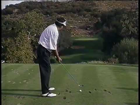 Here's a clip from 1997 of Bruce Lietzke hitting a 7 iron at the Shark Shootout. He and Scott McCarron won this year. http://www.littleleaky.blogspot.com/