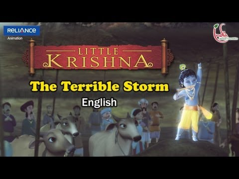 Little Krishna English Episode 2 the Terrible Storm Animation Series video