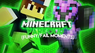 MINECRAFT HARDCORE PARKOUR!! (FUNNY/FAIL MOMENTS)
