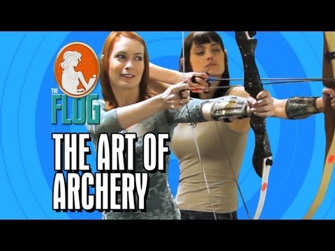 Felicia Day & Morgan Webb Master the Art of Archery