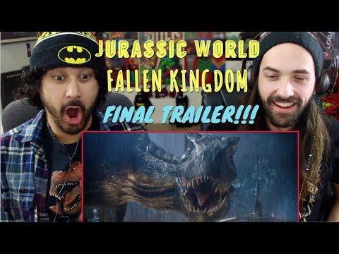 JURASSIC WORLD: FALLEN KINGDOM - FINAL TRAILER REACTION & REVIEW!!!