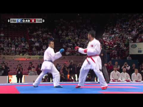 (1/4) Final Male Team Kumite. France vs Turkey. 21st WKF World Karate Championships 2012