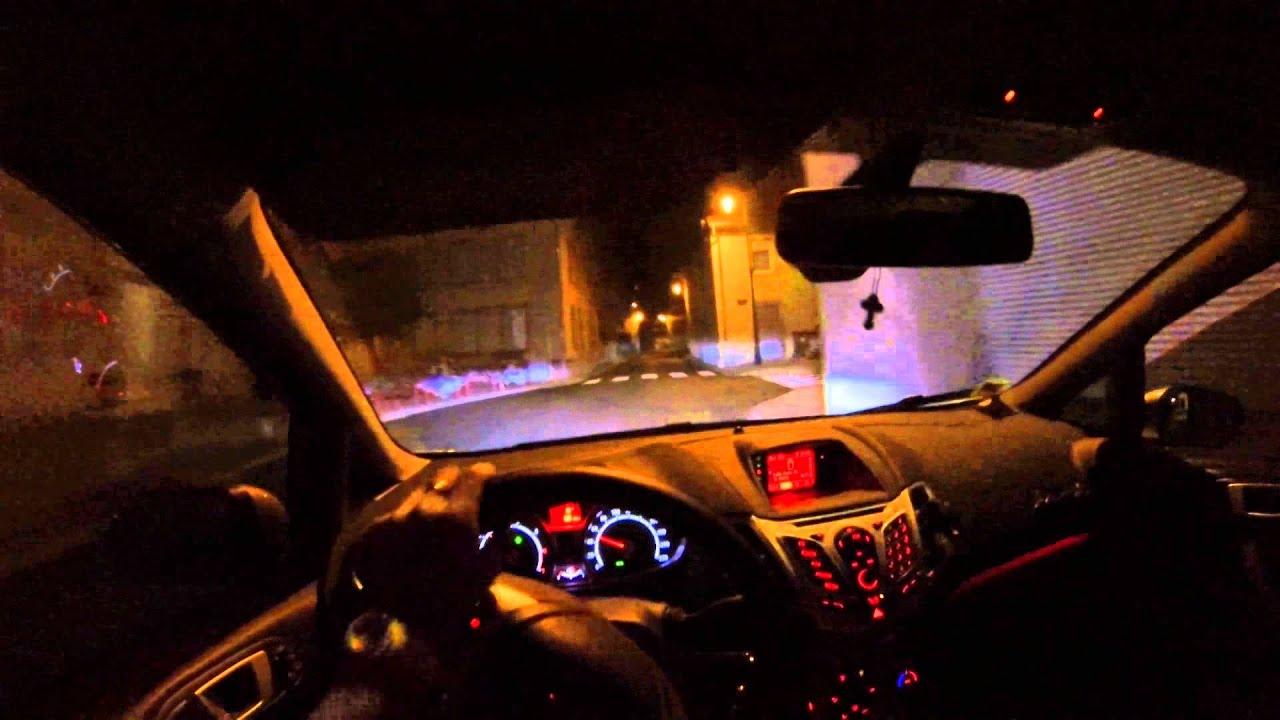 Ford Fiesta 1 25 Duratec 16v 82 Hp Night Drive Youtube