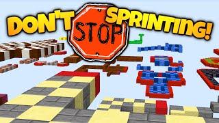 Minecraft | DON'T STOP SPRINTING! | Speed Parkour That Kills You When You Stop! (Minecraft Parkour)